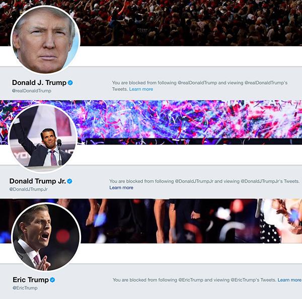 Trump Blocked